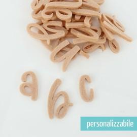 SET 26 LETTERE IN FELTRO CORSIVO MINUSCOLO - FONT 8