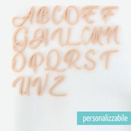 SET 26 LETTERE IN FELTRO CORSIVO MAIUSCOLO - FONT 5
