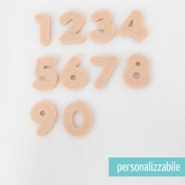 SET 250 NUMERI MINI IN FELTRO - FONT 2