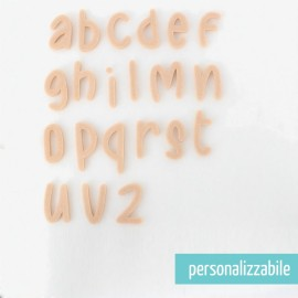 SET 26 LETTERE IN FELTRO STAMPATELLO MINUSCOLO - FONT 3