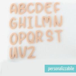 SET 26 LETTERE IN FELTRO STAMPATELLO MAIUSCOLO - FONT 3