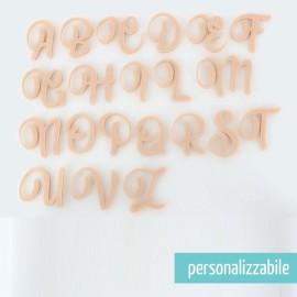 LETTERA IN FELTRO CORSIVO MAIUSCOLO - FONT 6
