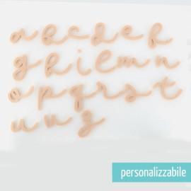 LETTERA IN FELTRO CORSIVO MINUSCOLO - FONT 7