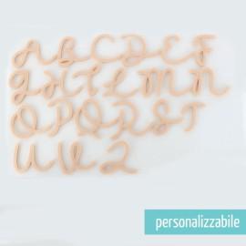 SET 26 LETTERE IN FELTRO CORSIVO MAIUSCOLO - FONT 7