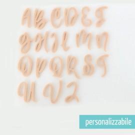 SET 26 LETTERE IN FELTRO CORSIVO MAIUSCOLO - FONT 8