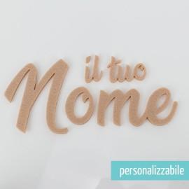 NOME IN FELTRO PERSONALIZZATO - FONT 1