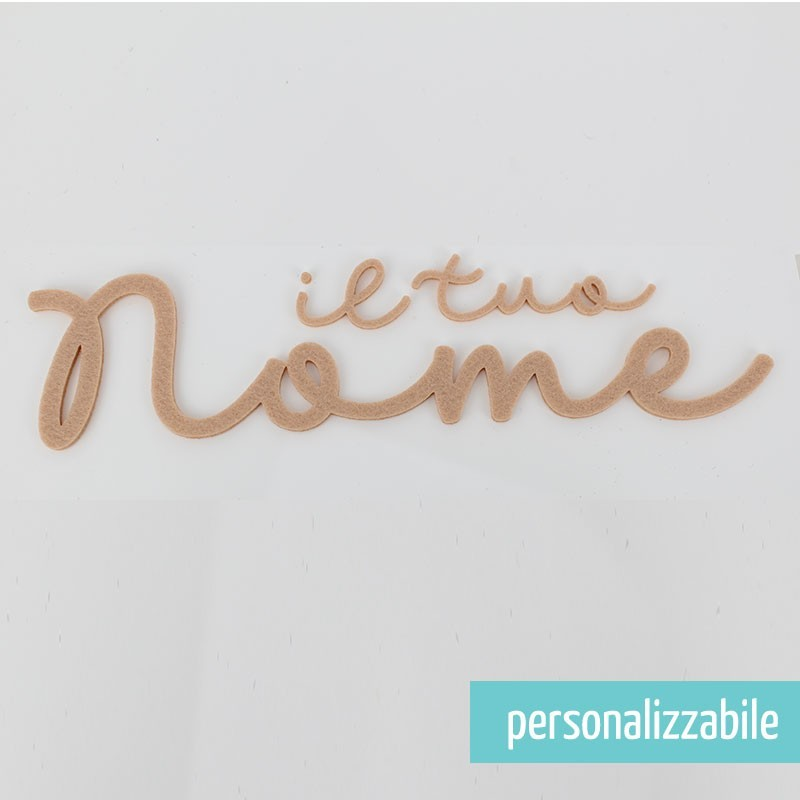 NOME IN FELTRO PERSONALIZZATO - FONT 3