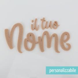 NOME IN FELTRO PERSONALIZZATO - FONT 4