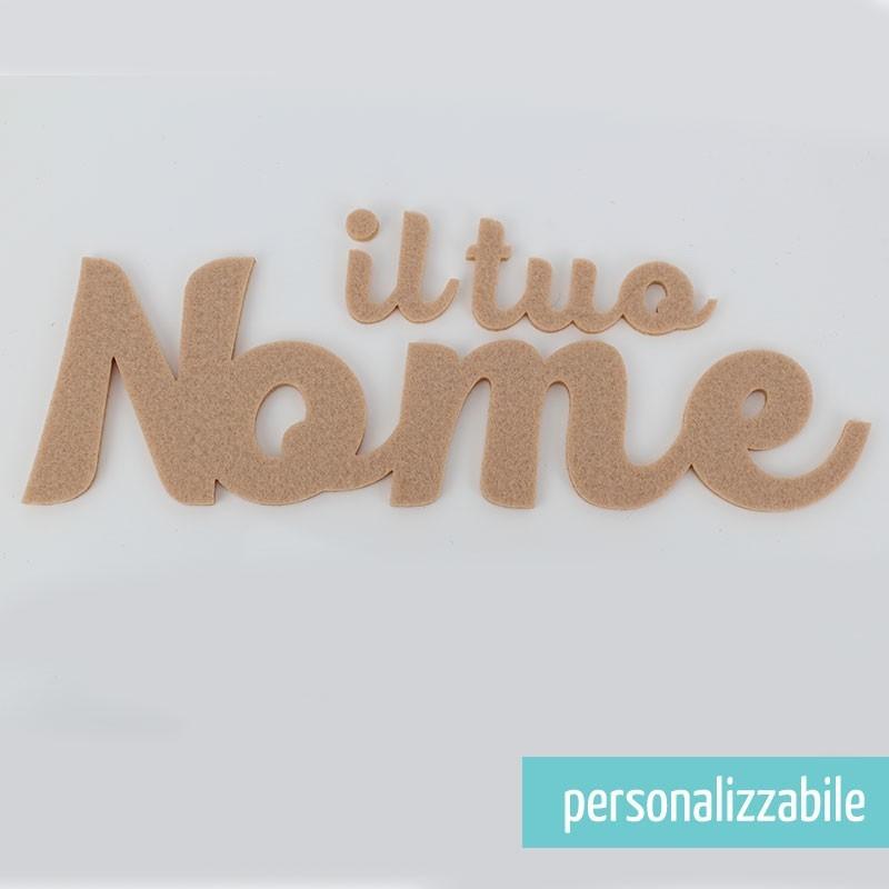 NOME IN FELTRO PERSONALIZZATO - FONT 7
