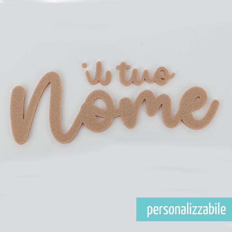 NOME IN FELTRO PERSONALIZZATO - FONT 11