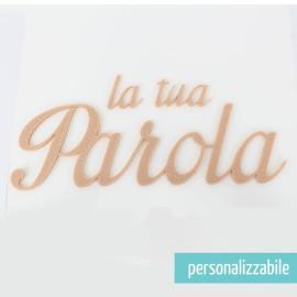 PAROLA IN FELTRO PERSONALIZZATA - FONT 12