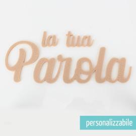 PAROLA IN FELTRO PERSONALIZZATA - FONT 2