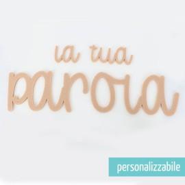 PAROLA IN FELTRO PERSONALIZZATA - FONT 6