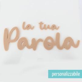 PAROLA IN FELTRO PERSONALIZZATA - FONT 11