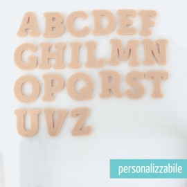 SET 250 LETTERE MINI IN FELTRO STAMPATELLO MAIUSCOLO - FONT 2