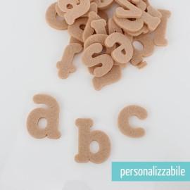 SET 26 LETTERE IN FELTRO STAMPATELLO MINUSCOLO - FONT 2