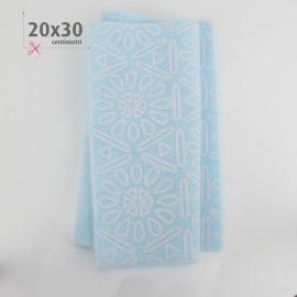 PANNOLENCI STAMPATO 20X30 CM AZTECA - CELESTE