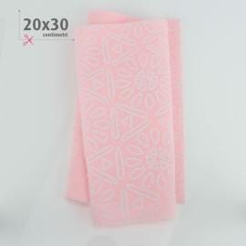 PANNOLENCI STAMPATO 20X30 CM AZTECA - ROSA BABY