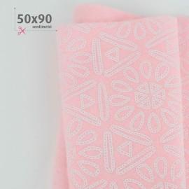 PANNOLENCI STAMPATO 50X90 CM AZTECA - ROSA BABY