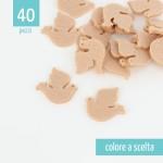 KIT RISPARMIO 40 UCCELLINI IN FELTRO - DIMENSIONI A SCELTA