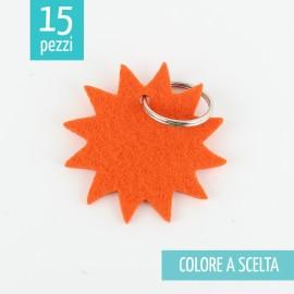 15 PORTACHIAVI IN FELTRO 3mm - SOLE