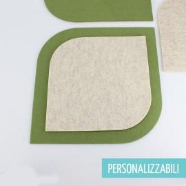 SOTTOPIATTO DOPPIO FORMATO IN FELTRO MODELLO 3 - PERSONALIZZABILE