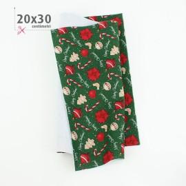 KIT RISPARMIO NATALE 10 PANNOLENCI 20x30 cm HAPPY NEW YEAR