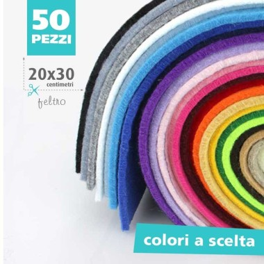 KIT SAVINGS of 50 SHEETS of FELT: 3MM - 20x30 CM