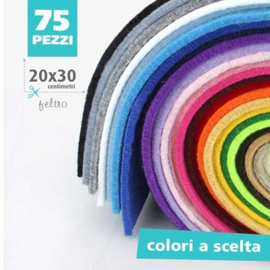 KIT SAVINGS-75 SHEETS FELT 3MM - 20x30 CM