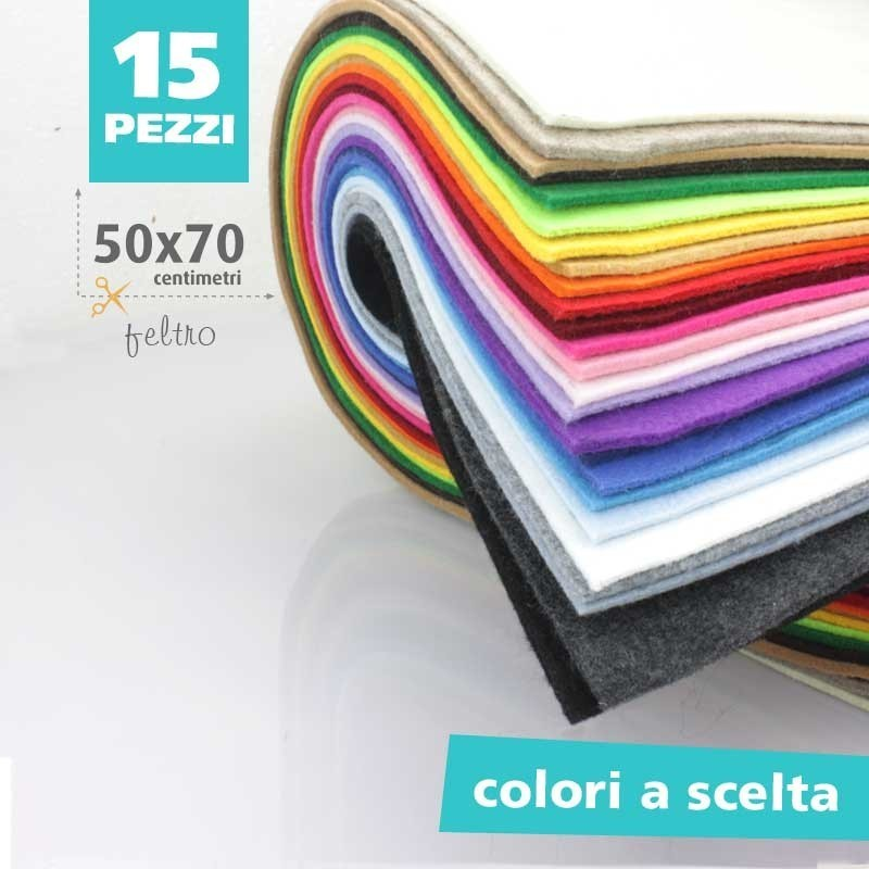 KIT SAVINGS 5 SHEETS of FELT: 3MM - 50x70 CM