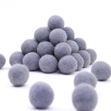 FELT BALL Ø 15 MM - MEDIUM GREY - 25 pcs