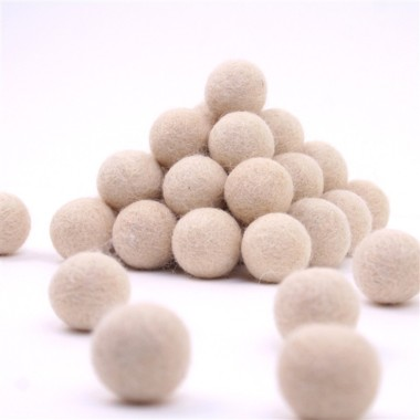 FELT BALL Ø 15-MM - CREAM - 25 pcs
