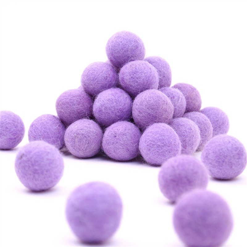 FELT BALL Ø 15 MM - LILAC - 25 pcs