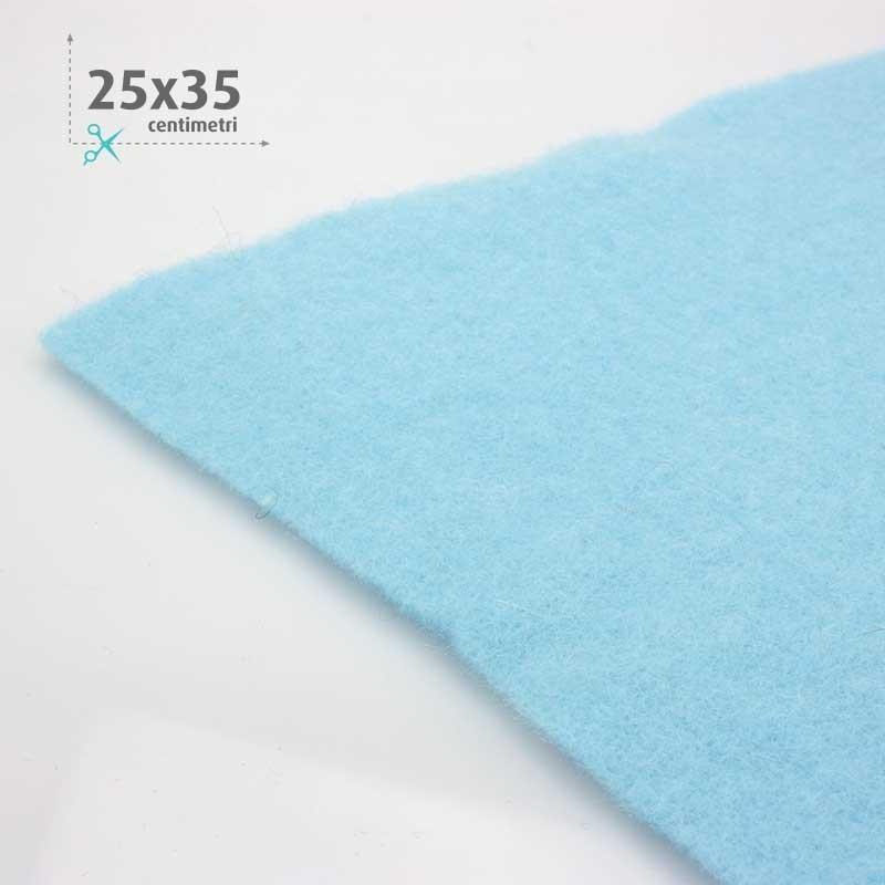 WOOL FELT BLUE 25x35 CM