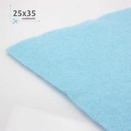 FELTRO LANA AZZURRO  25x35  CM