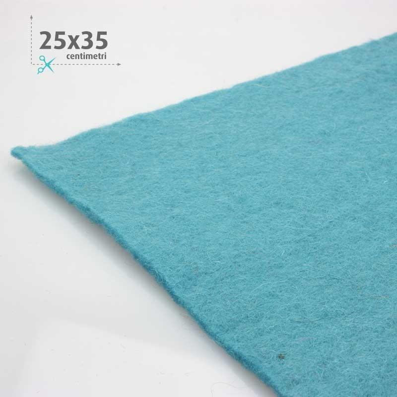 FELTRO LANA CELESTE 25x35 CM