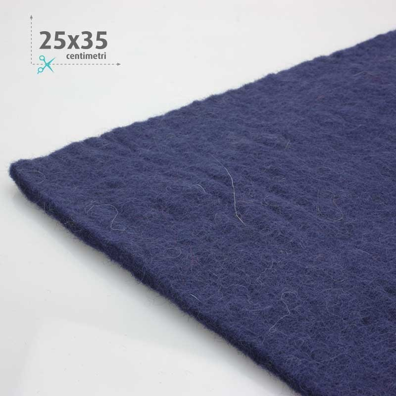 WOOL FELT DARK BLUE 25x35 CM