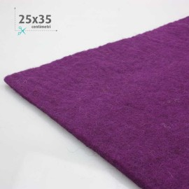 FELT WOOL PURPLE 25x35 CM