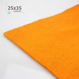 FELT WOOL ORANGE 25x35 CM