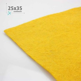 WOOL FELT YELLOW GOLD 25x35 CM