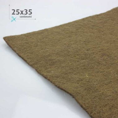 WOOL FELT BROWN 25x35 CM