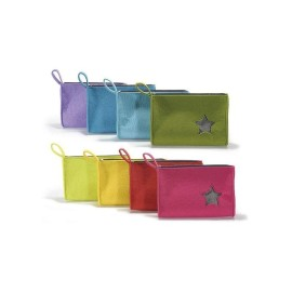 COSMETIC BAG COLORFUL FELT WITH STAR
