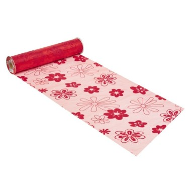 ORGANZA H 29 x 50 cm - FLOWER RED