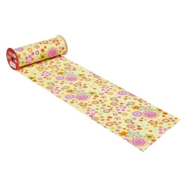 COTTON, H 20 x 50 cm - FLOWER POWER-YELLOW