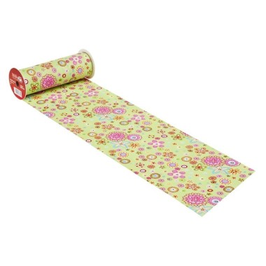 COTONE  H 20 x 50 cm - FLOWER POWER VERDE ACIDO