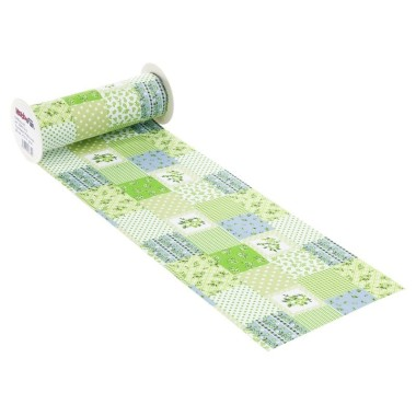 COTTON, H 20 x 50 cm PATCHWORK - ACID GREEN