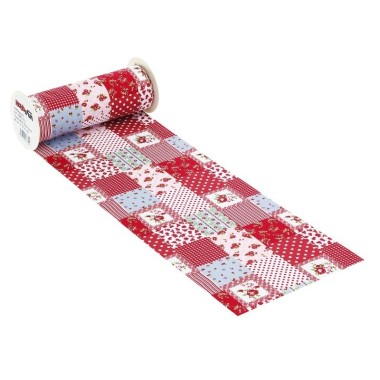 COTTON, H 20 x 50 cm PATCHWORK - RED