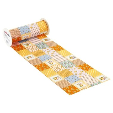 COTTON, H 20 x 50 cm - PATCHWORK ORANGE