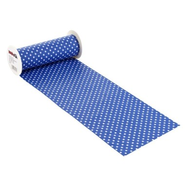 COTTON, H 20 x 50 cm - polka DOTS ELECTRIC BLUE