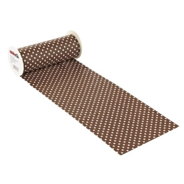 COTTON, H 20 x 50 cm) - polka DOTS BROWN